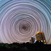 Tenerife Star Trails Poster