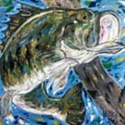 Tennessee River Largemouth Bass Poster