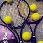 Tennis Still Life 2 Poster