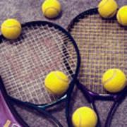 Tennis Still Life 3 Poster