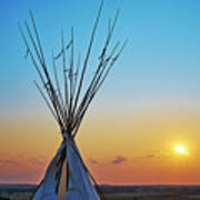 Tepee At Sunset Poster