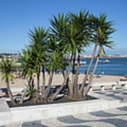 Terrace Promenade At Ribeira Beach In Cascais Poster