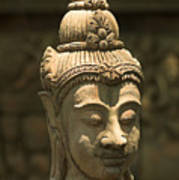 Terracota Statue Head Poster