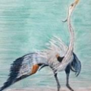 Terri's Heron Poster