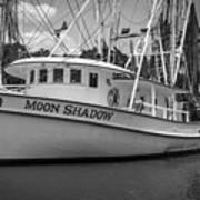 Moon Shadow Working Boat Poster