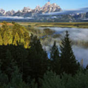 Teton Morning Snake River Overlook Poster