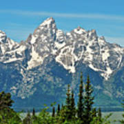 Tetons Across The Valley Poster