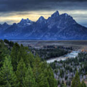 Tetons And Snake River Poster
