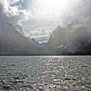Tetons At Jenny Lake Poster