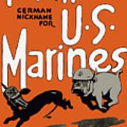 Teufel Hunden - German Nickname For Us Marines Poster