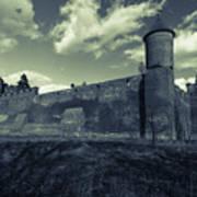 Teutonic Castle In Szymbark In Monochrome Poster