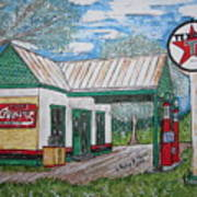 Texaco Gas Station Poster
