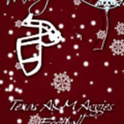 Texas Am Aggies Christmas Card Poster