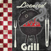 Texas Barbecue I Poster