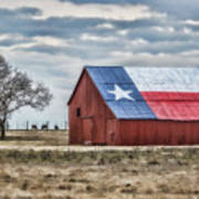 Texas Flag Barn #1 Poster