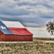 Texas Flag Barn #2 Poster
