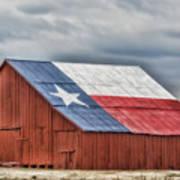 Texas Flag Barn #3 Poster