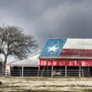 Texas Flag Barn #4 Poster