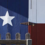 Texas Flag Painted On A House Poster by Jeremy Woodhouse