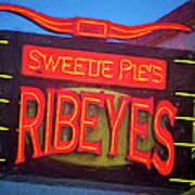Texas Impressions Sweetie Pie's Ribeyes Poster