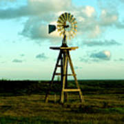 Texas Windmill Poster