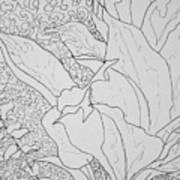 Texture And Foliage Poster