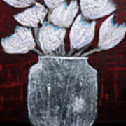 Textured Blooms Poster
