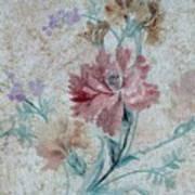 Textured Florals No.1 Poster