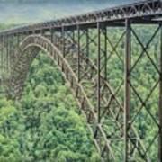 Textured New River Gorge Bridge Poster
