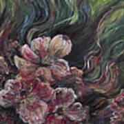 Textured Pink Petals Poster