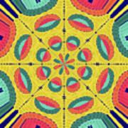 Textured Tropical Mandala Poster