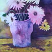 Textured Vase Poster