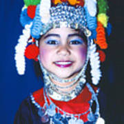 Thai Girl Traditionally Dressed Poster