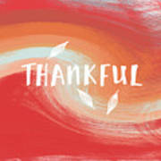 Thankful- Art By Linda Woods Poster