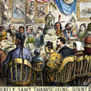 Thanksgiving Cartoon, 1869 Poster