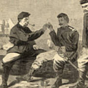 Thanksgiving Day In The Army Poster