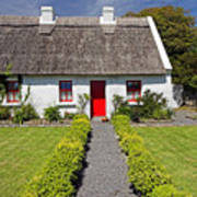 Thatch Roof Cottage Ireland Poster