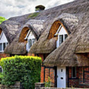 Thatched Cottages In Chawton 2 Poster