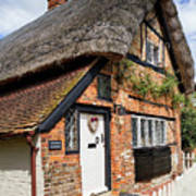 Thatched Cottages In Chawton 4 Poster