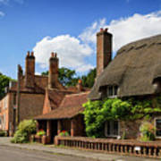 Thatched Cottages In Chawton 6 Poster