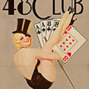 The 48 Club Poster by Cinema Photography