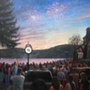 the 4th of July on Lake Mohawk Poster by Tim Maher