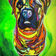 The Abstract Mastiff Poster