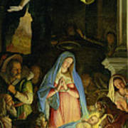 The Adoration Of The Shepherds Poster by Federico Zuccaro