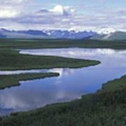 The Alaska Range Reflecting In A Lake Poster