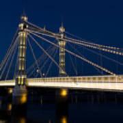 The Albert Bridge London Poster by David Pyatt