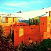 The Alhambra Of Granada Poster