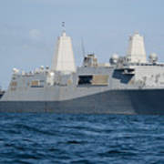 The Amphibious Transport Dock Ship Uss Poster