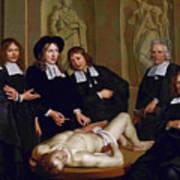 The Anatomical Lesson Of Professor Frederik Ruysc Poster