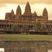 The Angkor Wat Temples In Siem Reap Poster